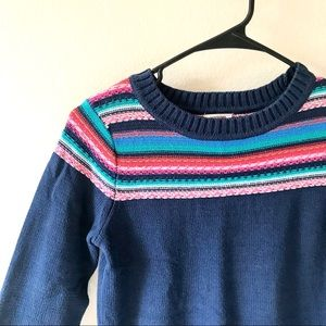 Mossimo Navy And Rainbow Cozy Women's Sweater XS